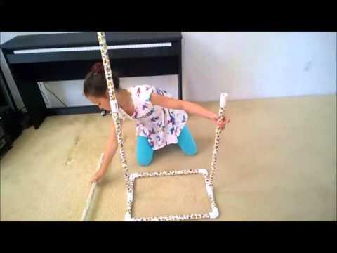 DIY:  PVC $10 Garment Rack for Dancers