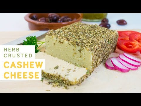 Herb crusted cashew cheese - vegan, super easy and full of protein