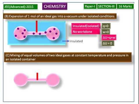 IIT-JEE (2015)-Chemistry-Thermodynamics