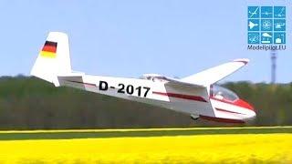 Ka-8 F-schlepp Pilatus Rc Glider Eckhard KÖnig & Ulli MÜller Bvm Berlin Ragow Himmelfahrtsfete 2016