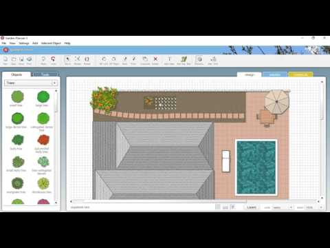 Vegetable bed layout with GardenPlanner