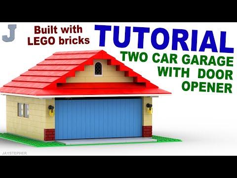 Tutorial - LEGO Two Car Garage With Door Opener How To