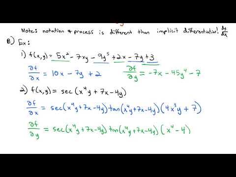 3.10 Partial Derivatives