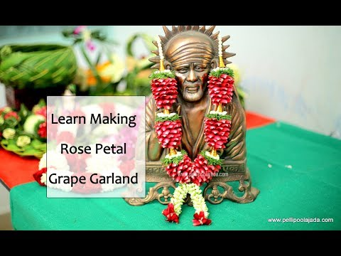 How to Make Rose Petal garland | Grape type | Cone Type