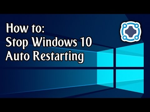 How To Stop Windows 10 Automatically Restarting