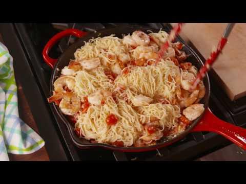 Shrimp Bruschetta Pasta | Delish