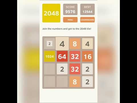 How To Get 2048 tile in 10 minutes (2048 Game)-Very Easy