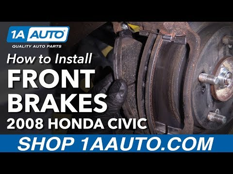 How to Install Replace Front Brake Pads Rotor 2006-10 Honda Civic