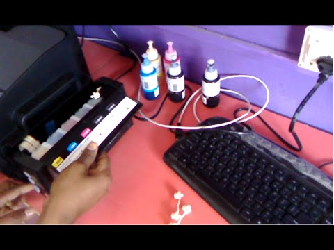 How to Fill Ink & Install Epson A3 Color Printer (L1300)