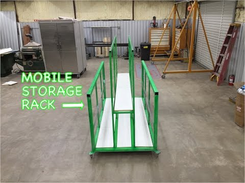 Sheetmetal Storage Rack on Wheels - Metalwork Monday