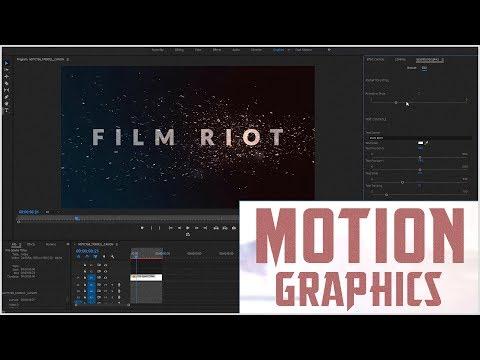 Motion Graphics Inside Adobe Premiere