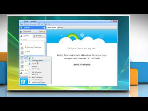 How to send an SMS using Skype®