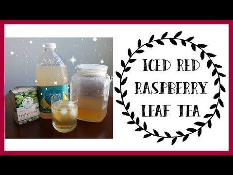 ICED RED RASPBERRY LEAF TEA | RECIPE