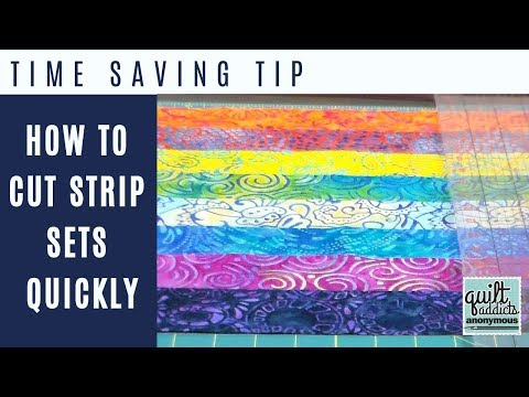 Time-saving quilting tip: How to cut strip sets quickly