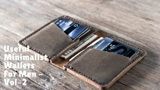 Useful Minimalist Wallets For Men - Vol-2