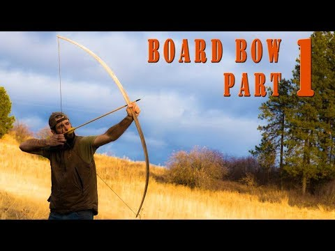 Woodworking ideas - How to build a wood long bow from a Maple Board part 1