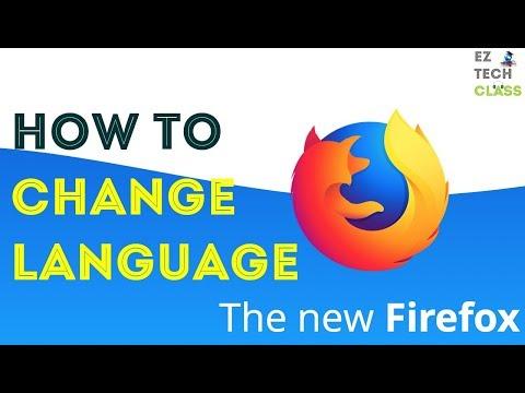 How to change Firefox language setting? | EZ TECH CLASS