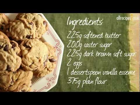 How to make chocolate chip cookies video - Allrecipes.co.uk