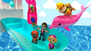 Paw Patrol Cruise Ship Pool Party Swim with Dolphins  Fizzy Fun Toys