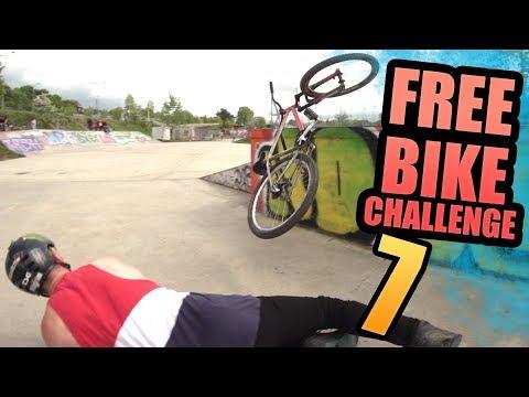 THE FREE BIKE CHALLENGE - PART 7 - THE SKATE PLAZA