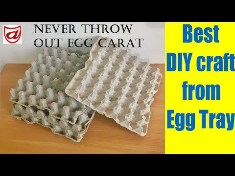 Best DIY craft from waste Egg tray | Home decor craft from Egg carton | Valentine day Wall hanging