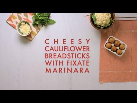 Cheesy Cauliflower Breadsticks with FIXATE Marinara - FIXATE™
