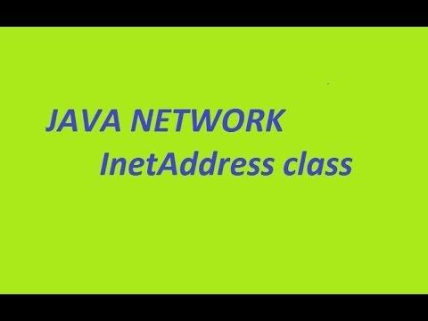 java network  InetAddress class Part 1