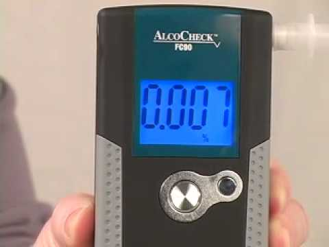 DOT approved breath alcohol testing with AlcoCheck® FC90 (AT578)