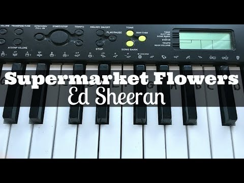 Supermarket Flowers - Ed Sheeran | Easy Keyboard Tutorial With Notes (Right Hand)