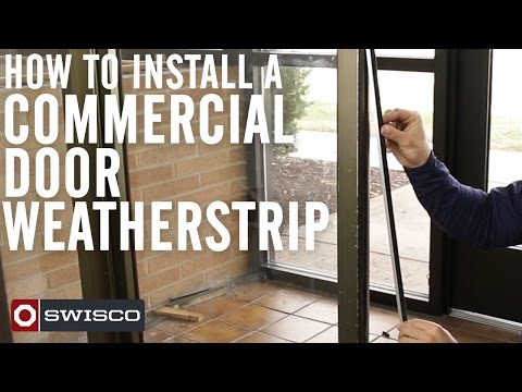 How to Install a Commercial Door Weatherstrip [1080p]