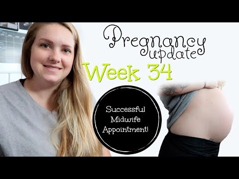 PREGNANCY UPDATE || WEEK 34 || SUCCESSFUL MIDWIFE APPOINTMENT!