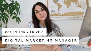 Day in the Life of a Digital Marketing Manager 👩🏻💻 |  Working From Home