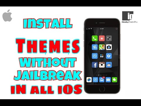 install Themes in iPhone Without Jailbreaking iOS 9/ iOS 10.1 /10.2 | Hindi | Urdu |