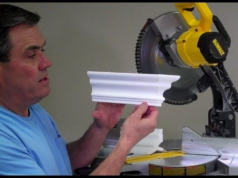 How to cut a crown molding tapered dead end by Creative Crown