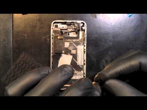 iPhone 4 CDMA Verizon power flex cable repair , realtime process HD1080p