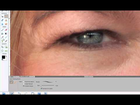 Remove fine lines and wrinkles in Photoshop Elements