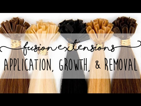 Keratin Hot Fusion Hair Extensions - Application, 4 Month Growth, & Removal | Instant Beauty ♡