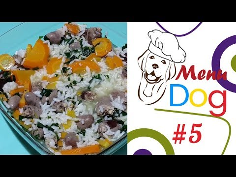 Dog Menu. Chicken hearts with rice