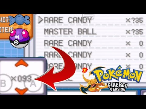 How To Get Unlimited Master Balls And Rare Candy In Pokemon Fire Red Cheat Codes