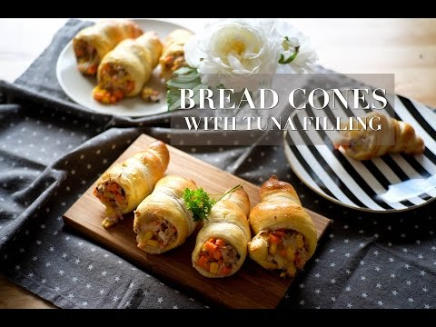 HOW-TO MAKE BREAD CONES WITH TUNA FILLING:: Kitchen Diary by Kaew #12