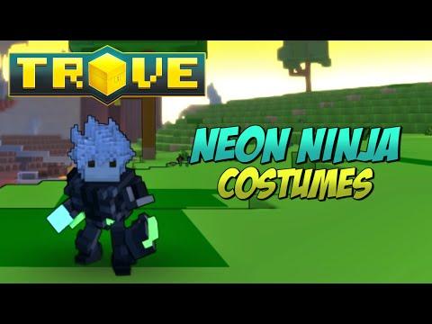 Trove - All Neon Ninja Costumes (May 2015)!