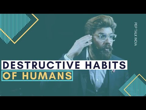 One of the Most Destructive Habits of Humans   Speech in English   Public Speaking in Delhi