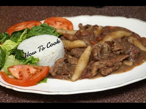 HOW TO COOK REAL JAMAICAN STEW PEA'S WTH BEEF RECIPE JAMAICAN ACCENT 2016