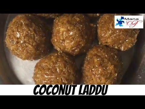 Kobbari laddu Or Coconut & Jaggery Laddu in Telugu