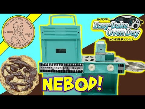 National Easy Bake Oven Day 2017 - Fudgy Chocolate Chip Cookies! Paper Easy Bake!