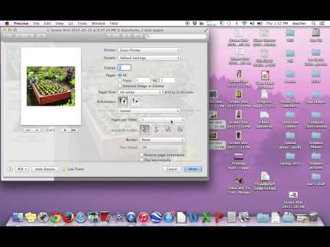 Mac - printing multiple images to a page