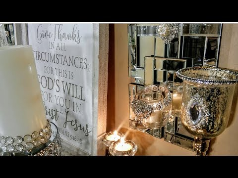 DIY Chic Dollar Tree Floating 💞Candle Mirror Wall Glam Home Decor