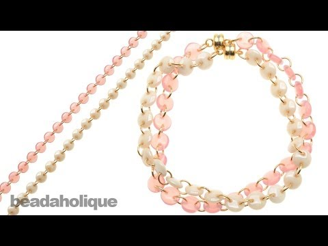 How to Create a CzechMates Lentil Bead Chain and Make a Bracelet