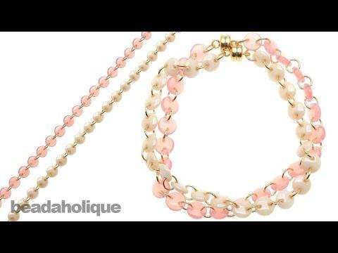 How to Create a CzechMates Lentil Bead Chain and Make a Bracelet