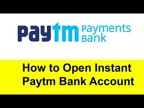 How to open paytm Instant Bank Account | Tamil Banking